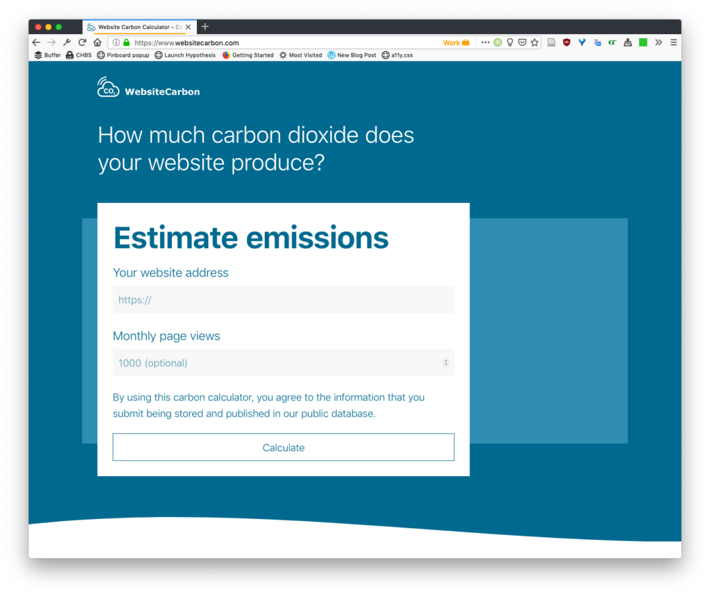 Website carbon - a tool for measuring carbon emissions for a single site