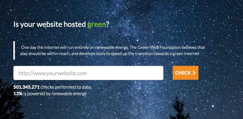 The screenshot of hosting the web